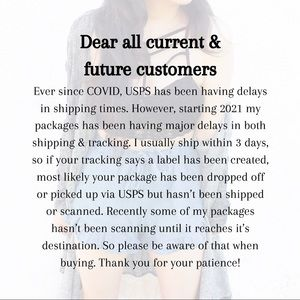 Shipping & tracking delays